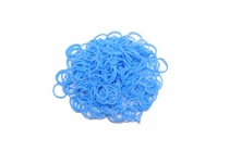 600 Ct Light Blue Loom Bands + 24 Free Clasps