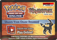 Pokemon HS Undaunted NIGHTFALL ONLINE THEME DECK CODE WITH SUPER BONUS - UMBREON PRIME ONLINE CARD & MORE - Delivered by Email - IN STOCK NOW