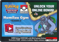 POKEMON PTCGO HUMILAU GYM CODE SEASON 8 - Pokemon League Card Code Season Eight - Delivered Super Fast By Email - Each code unlocks (2) Wailord (1) Super Rod and (4) Water Energy for a total of 7 promo cards.