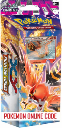 XY04 BURNING WINDS POKEMON X & Y PHANTOM FORCES STARTER THEME DECK CODE - X&Y Starter Theme Deck Code for your Pokemon Online Account - Delivered by Email