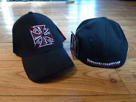 Hot Rod Sled Shop Inc. Flex Fit Hats -Red/Black