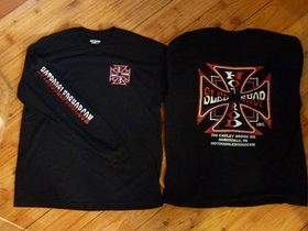 Hot Rod Sled Shop Inc. Long Sleeve T's Red/Black