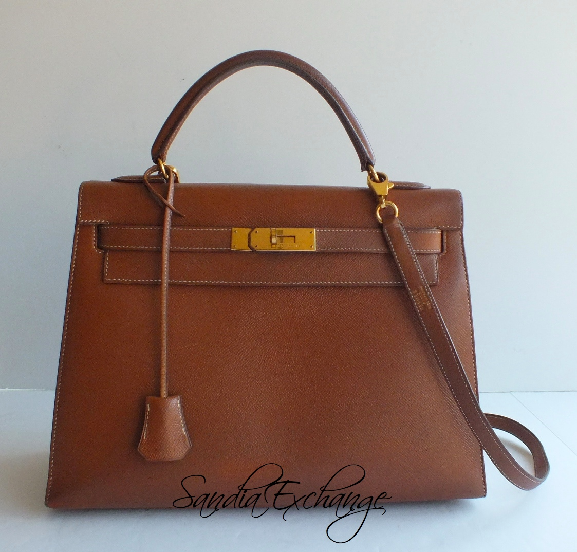 hermes leather bag - hermes women's vert bengale courchevel kelly retourne 32 - dark ...