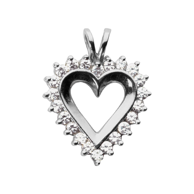 1.00 CT Diamond Heart Pendant