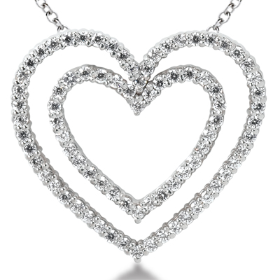 1.50CTW Diamond Heart Pendant