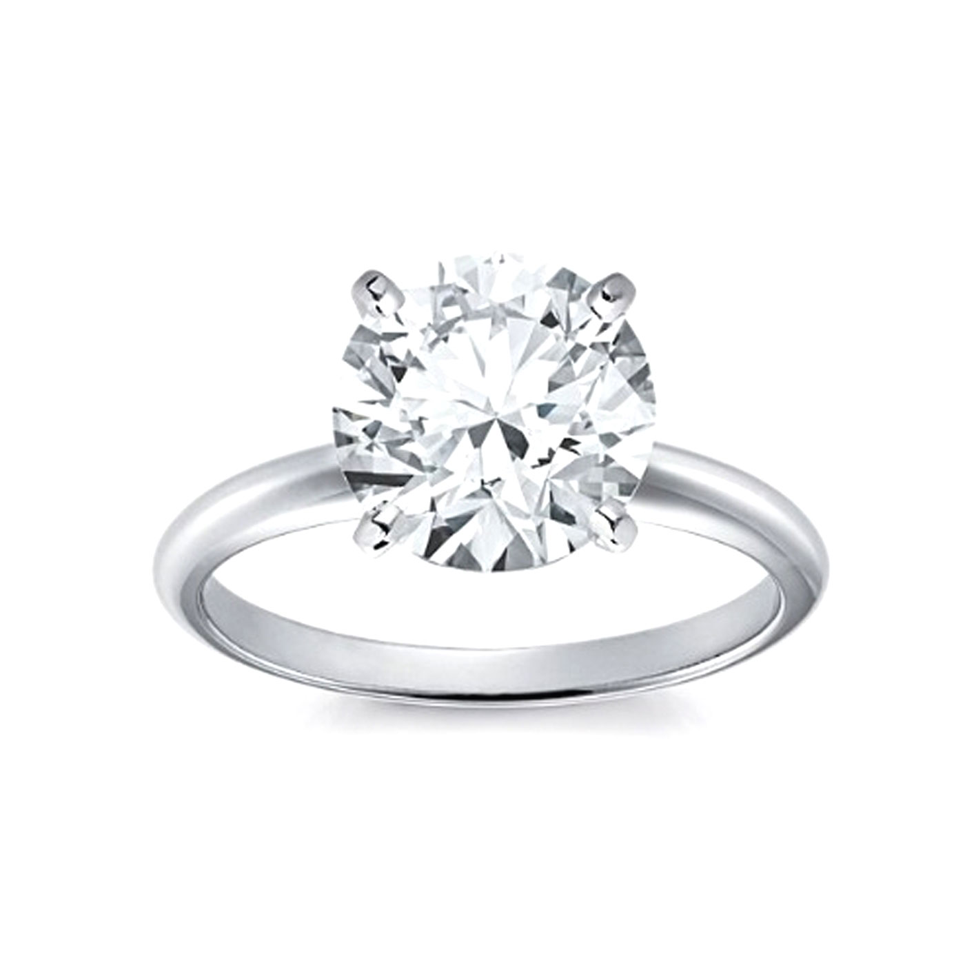 14kt Classic Solitaire Style Ring With 171 Carat Gsi1 Round Diamond For