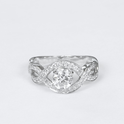 14kt Classic Style Ring With 1.75Ctw G SI2 Round Diamond