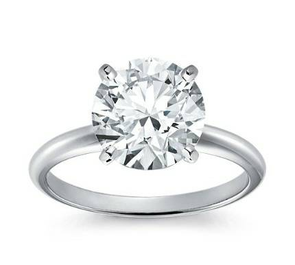 14kt Classic Style Solitaire Ring With 1.40 Carat G- SI1 Round Diamond