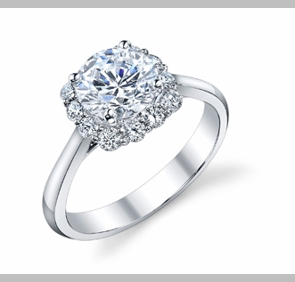 14kt Classic Style Solitaire Ring With 1.50 Carat G- SI2 Cushion Cut Diamond