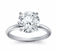 14kt Classic Style Solitaire Ring With 1.95 Carat G- SI3 Round Diamond