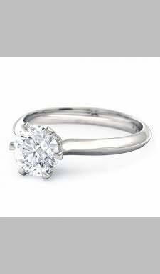 14kt Classic Style Solitaire Ring With 2.90 Carat G- SI3 Round Diamond