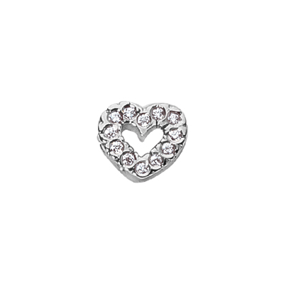 .25 pts Diamond Heart Pendant