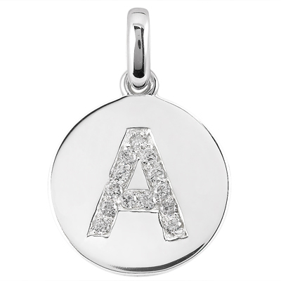 .26 Pts Diamond Initial Pendant
