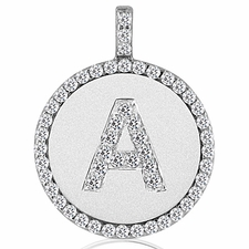 Affordable diamond pendant necklaces skydelldesign 53cts diamond initial pendant aloadofball Image collections