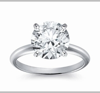 14kt Classic Solitaire Style Ring With 1.25 Carat G-SI3 Round Diamond
