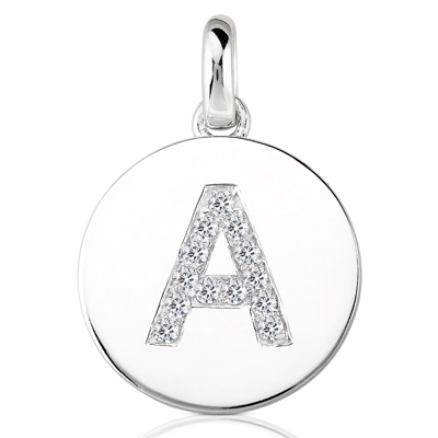 .15pts Diamond Initial Pendant