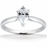 Pear Cut Solitaire Rings