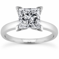 Princess Solitaire Rings