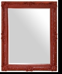 Ornate Mirror – Mirror Style #903 – 30x40 – High Gloss Red