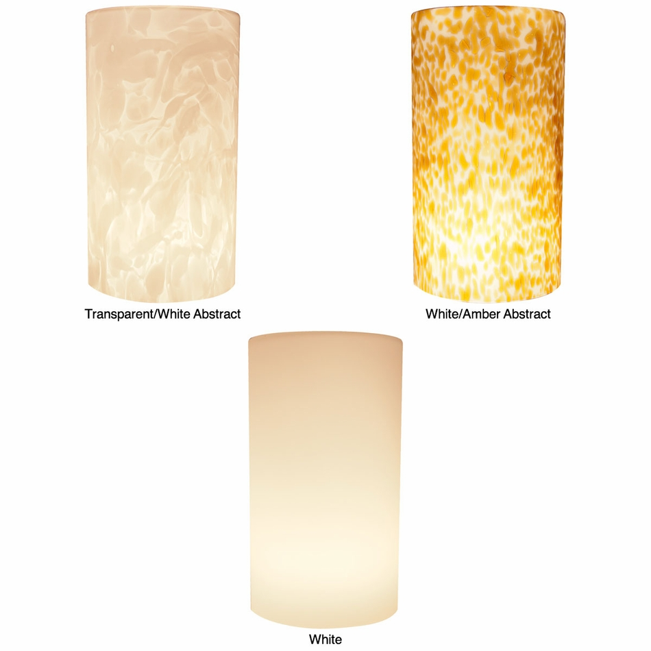 American Lighting LED Pendant Tall Cylinder Glass Shade