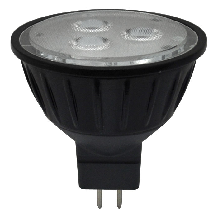 Mr16 Wide Flood: Halco 4W LED MR16 Black Wide Flood Lamp