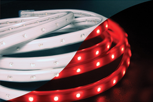 led 120v red tape rope hybrid light kit. Black Bedroom Furniture Sets. Home Design Ideas