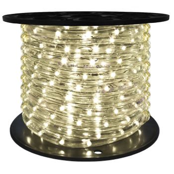"""LED 2-Wire 1/2"""" 120v Directional Warm White Rope Light - 150'"""
