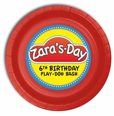 "Play-Doh Personalized Party Plates 9"" Meal Size"