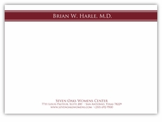All Business Marvelous Maroon Note Card