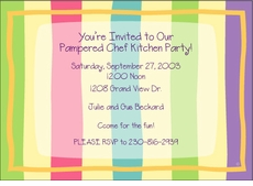 Beach Towel Stripes  Invitation
