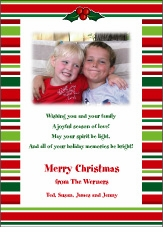Bright Stripes Christmas Birth Announcement