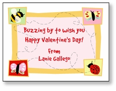 Buzzing Bugs Personalized Valentine