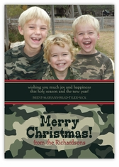 Camo Christmas Photo Card