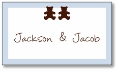 Chocolate Bears Twin Boys Enclosure Card