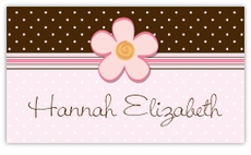 Chocolate Dots Calling Card