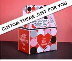 Choose your custom character, colors, theme<br>Valentine's Day Treat Box