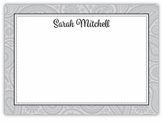Classic Paisley Black Tie Note Card