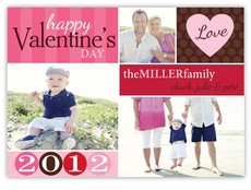 Classy Collage Valentine�s Day Multi Photo Card