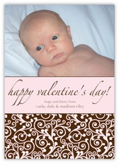 Classy Curls Valentine's Day Photo Card