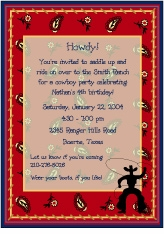 Cowboy Party Invitation