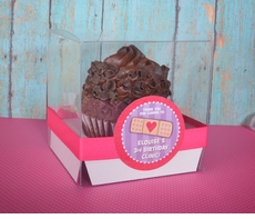 """Doc McStuffins Personalized 4"""" Clear Cupcake to Go Box"""