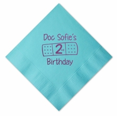 Doc McStuffins Personalized Luncheon Napkins for Birthday Party, Color Napkin
