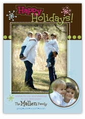 Dottie Designs Blue & Brown Photo Christmas Card