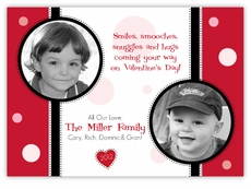Dottie Dots Multi Picture Valentine�s Day Card