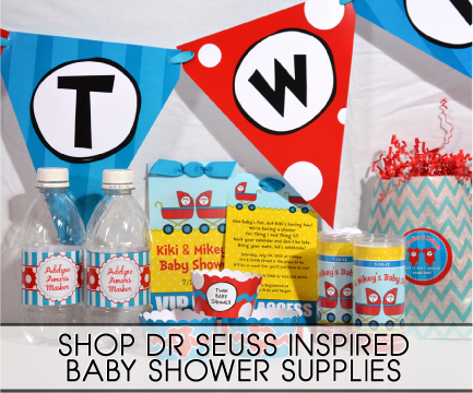 dr seuss inspired baby shower supplies