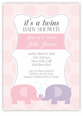 Personalized & Themed Twin Baby Shower Invitations | Amy's Card Creations