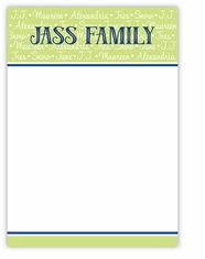 Family Repeat Note Card Vertical