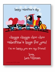 Festive Train Personalized Valentine