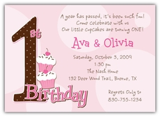 mickey  minnie twin first birthday party invitations  amy's card, Birthday card
