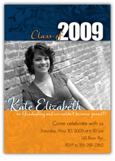 Flourish Photo Graduation Invitation